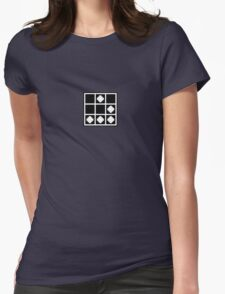 Glider - Pixelated, Black Womens Fitted T-Shirt