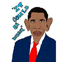 Obama Caricature Photographic Print