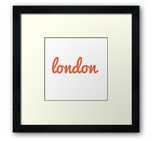 London - ORANGE Framed Print