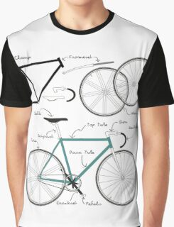 Fixie Bike anatomy Graphic T-Shirt