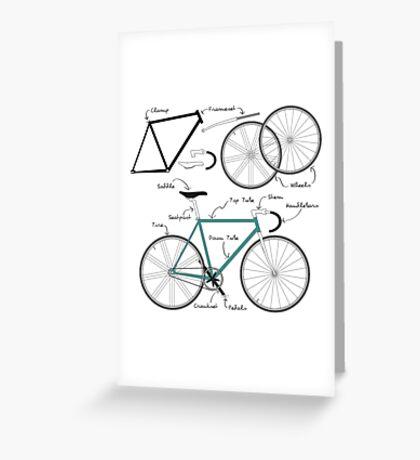 Fixie Bike anatomy Greeting Card