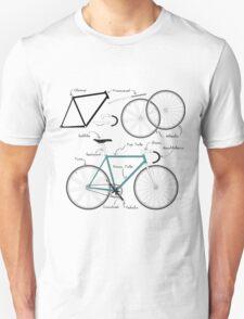 Fixie Bike anatomy T-Shirt
