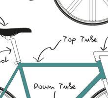 Fixie Bike anatomy Sticker