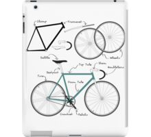 Fixie Bike anatomy iPad Case/Skin
