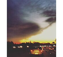 The Sunset on a Freeway Photographic Print