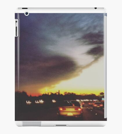 The Sunset on a Freeway iPad Case/Skin