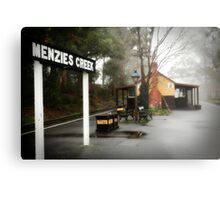 Menzies Creek Station Victoria Metal Print