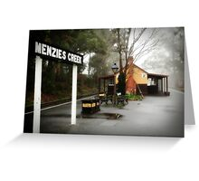Menzies Creek Station -1605 Greeting Card