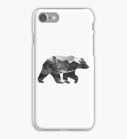 Grizzly Bear Silhouette  iPhone Case/Skin