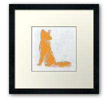 Orange Finger Painted Arctic Fox Framed Print