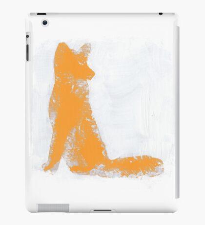 Orange Finger Painted Arctic Fox iPad Case/Skin