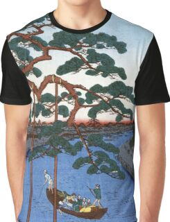 Hiroshige Five Pines, Onagi Canal Graphic T-Shirt