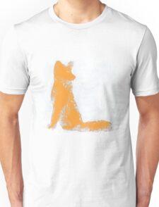 Orange Finger Painted Arctic Fox Unisex T-Shirt