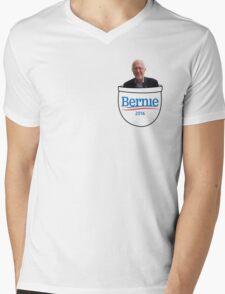 Bernie in the pocket Mens V-Neck T-Shirt