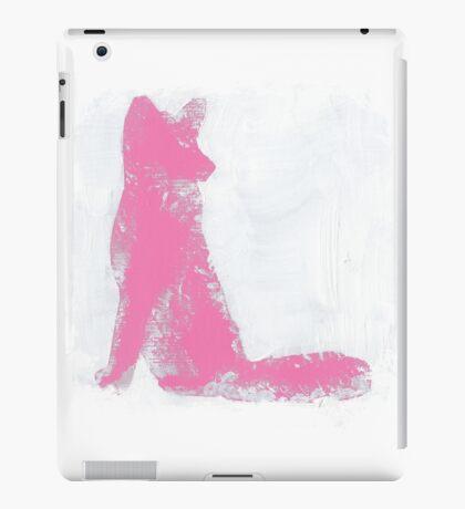 Pink Finger Painted Arctic Fox iPad Case/Skin
