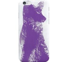 Purple Finger Painted Arctic Fox iPhone Case/Skin