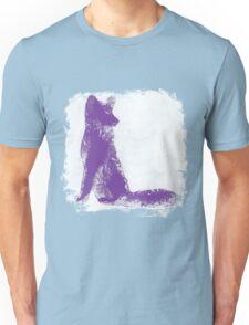 Purple Finger Painted Arctic Fox Unisex T-Shirt