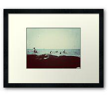 coastal vibes Framed Print