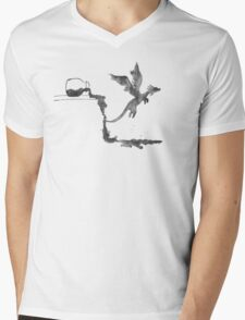 Spilled Ink Dragon Mens V-Neck T-Shirt