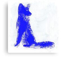 Fuchsia Finger Painted Arctic Fox Canvas Print