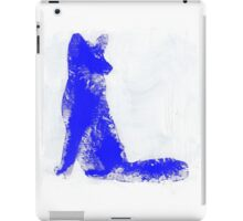 Fuchsia Finger Painted Arctic Fox iPad Case/Skin