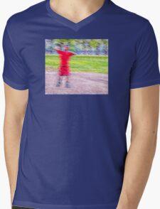 Sandlot Football Mens V-Neck T-Shirt