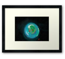Smiling Planet Framed Print