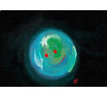 Smiling Planet Photographic Print