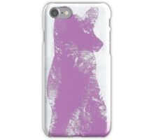 Violet Finger Painted Arctic Fox iPhone Case/Skin