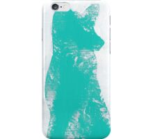 Teal Finger Painted Arctic Fox iPhone Case/Skin