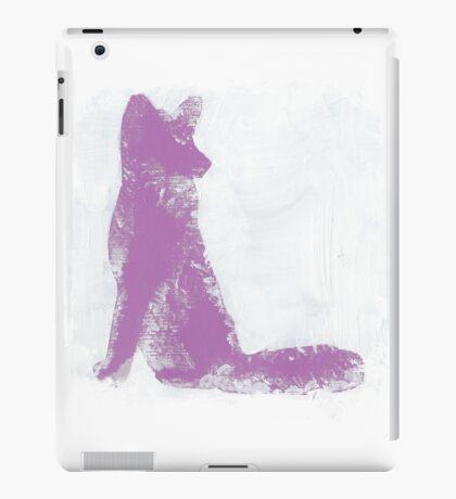 Violet Finger Painted Arctic Fox iPad Case/Skin