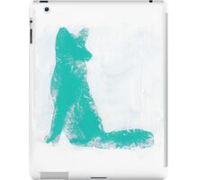 Teal Finger Painted Arctic Fox iPad Case/Skin
