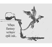 Spilled Ink Fantasy Dragon Photographic Print