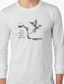 Spilled Ink Fantasy Dragon Long Sleeve T-Shirt