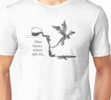 Spilled Ink Fantasy Dragon Unisex T-Shirt