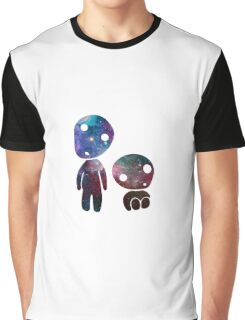 Princess Mononoke Tree Spirits Galaxy Graphic T-Shirt