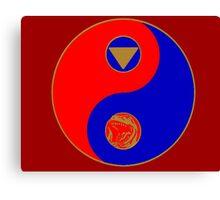 Rocky's Ranger Power Yin Yang Canvas Print