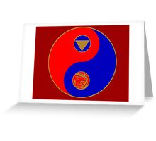Rocky's Ranger Power Yin Yang Greeting Card