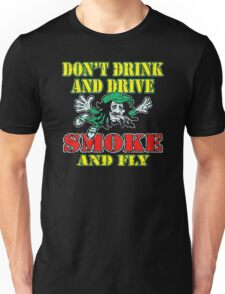 Smoke and fly Funny Men's Tshirt Unisex T-Shirt