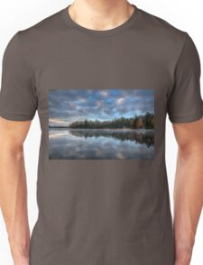 Reflected trees and sky Unisex T-Shirt