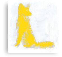 Yellow Finger Painted Arctic Fox Canvas Print