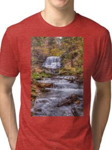 Forest waterfall Tri-blend T-Shirt