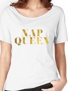 Nap Queen Faux Gold Foil Women's Relaxed Fit T-Shirt
