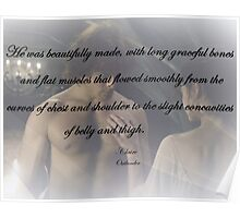 Outlander Wedding night Quote/Jamie & Claire Fraser Poster