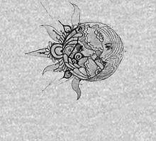 Sun/Moon Mens V-Neck T-Shirt