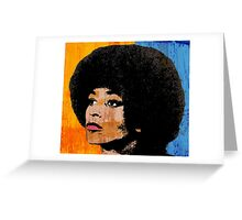 ANGELA DAVIS (COLOR) Greeting Card