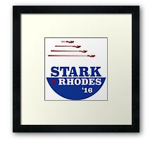 Campaign Button Framed Print