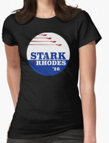 Campaign Button Womens Fitted T-Shirt