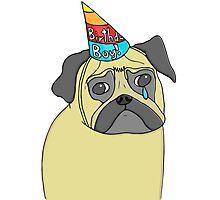 Pug Birthday Photographic Print