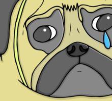 Pug Birthday Sticker